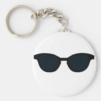 Sunglasses Black Rim Black Lens The MUSEUM Zazzle Key Chains