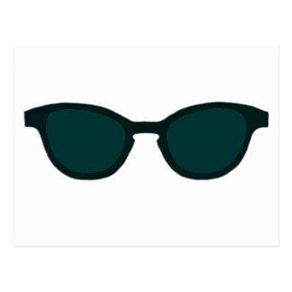 Sunglasses Black Rim Dk Green Lens The MUSEUM Zazz Postcard