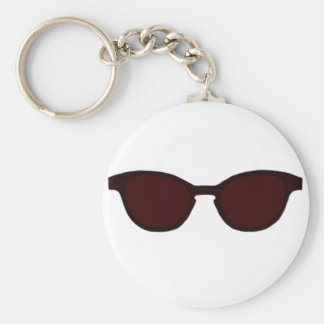 Sunglasses Brown Rim Brown Lens The MUSEUM Zazzle Keychain