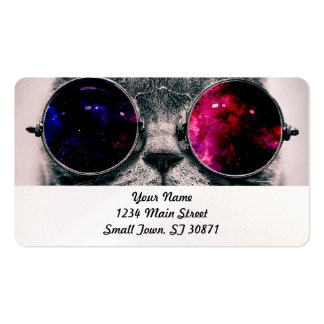 sunglasses cat pack of standard business cards