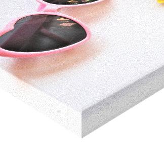 Sunglasses & Daises Canvas Print