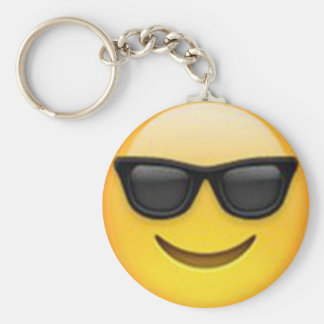 Sunglasses Emoji Keychain