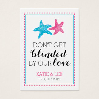 Sunglasses Favor Tag | Starfish Wedding Favor Business Card