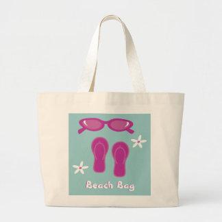 Sunglasses, Flip Flops & Flowers Beach Bag