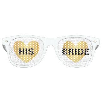 Sunglasses - Heart Fab Hise Bride Golden White
