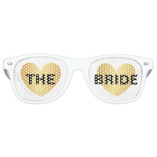 Sunglasses - Heart Fab The Bride Golden Black