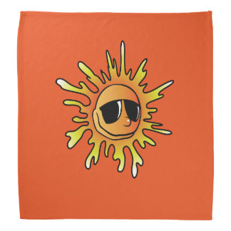 Sunglasses hot orange bandana
