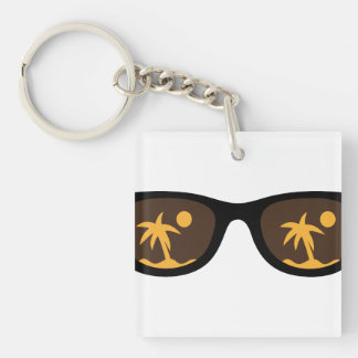 sunglasses Single-Sided square acrylic key ring