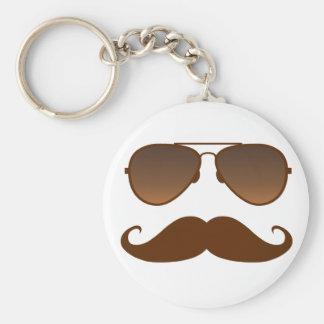 Sunglasses Mustache Keychain