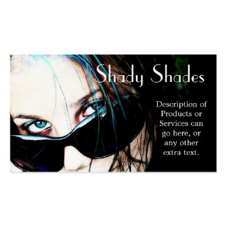 Sunglasses on Teenage Girl Double-Sided Standard Business Cards (Pack Of 100)