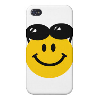 Sunglasses perched on top of head smiley face iPhone 4/4S cover
