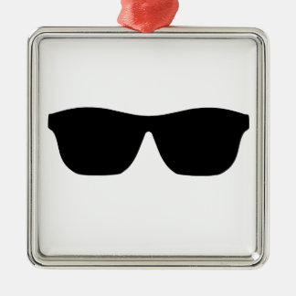 Sunglasses Silver-Colored Square Decoration