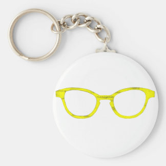 Sunglasses Yellow Rim The MUSEUM Zazzle Gifts Key Chains