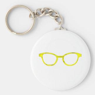 Sunglasses Yellow Rim The MUSEUM Zazzle Gifts Keychain