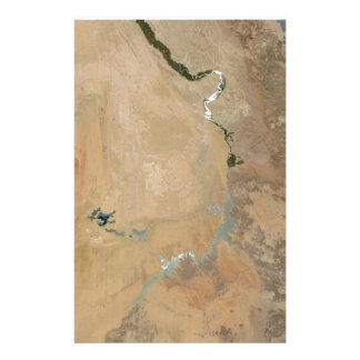 Sunglint On The Nile (Picture Earth Satellite) Customized Stationery