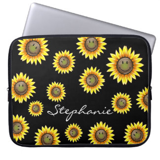 Sunkissed Smiling Sunflower Laptop Computer Sleeves