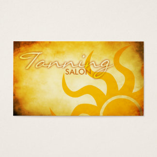 sunkist tanning salon business card