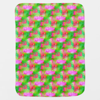 Sunlight abstract painted yellow, pink baby blanket