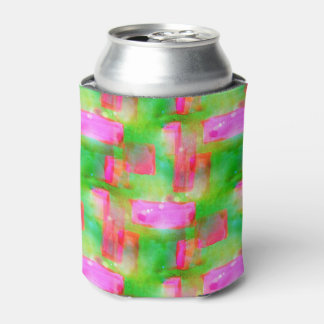 Sunlight abstract painted yellow, pink can cooler