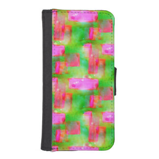 Sunlight abstract painted yellow, pink iPhone SE/5/5s wallet case