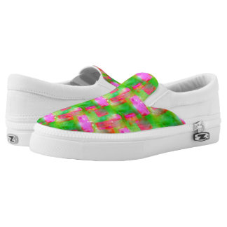 Sunlight abstract painted yellow, pink Slip-On shoes