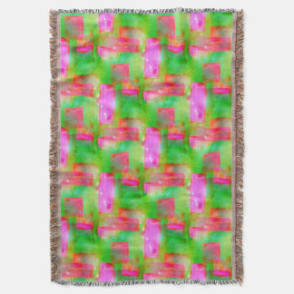 Sunlight abstract painted yellow, pink throw blanket