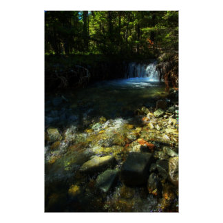 Sunlight and a Waterfall Poster
