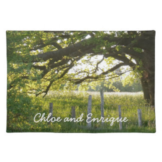 Sunlight And Trees Personalized Wedding Placemat