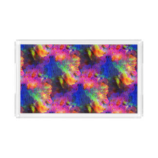 Sunlight art blue, pink watercolor acrylic tray