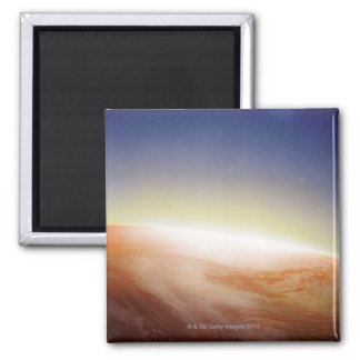 Sunlight Behind Earth 3 Square Magnet