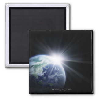 Sunlight Behind Earth 4 Magnet