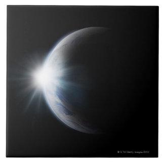 Sunlight Behind Moon Tile