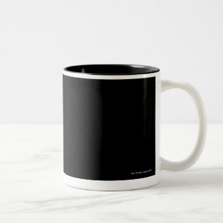 Sunlight Behind Moon Two-Tone Coffee Mug