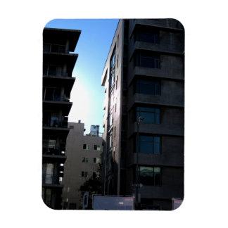 Sunlight Between Buildings Rectangular Photo Magnet