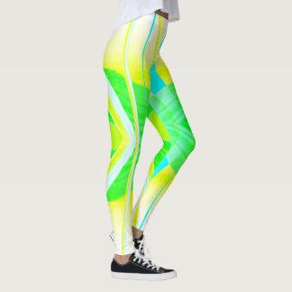 Sunlight Fashion Leggings -Yellow/White/Blue/Green