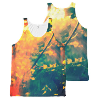 Sunlight in the forest, print all over All-Over print tank top