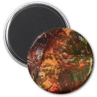 Sunlight on cavern walls 6 cm round magnet