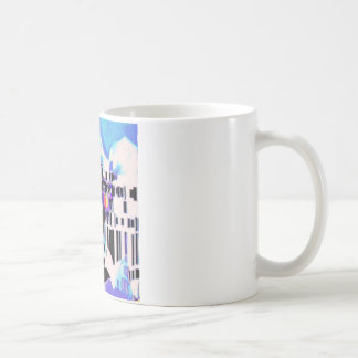 Sunlight on Mediterranean village Coffee Mug