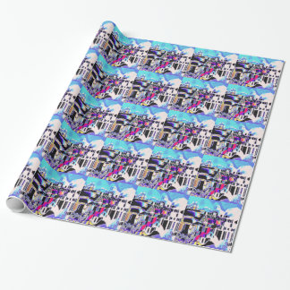 Sunlight on Mediterranean village Wrapping Paper