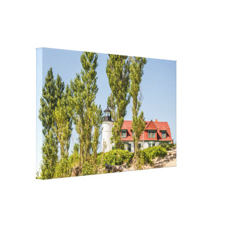 Sunlight on Point Betsie Lighthouse near Frankfort Canvas Print