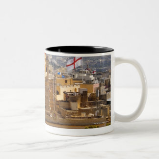 Sunlight on the church in the town of Victoria Two-Tone Coffee Mug