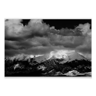 Sunlight on the Mountains Poster