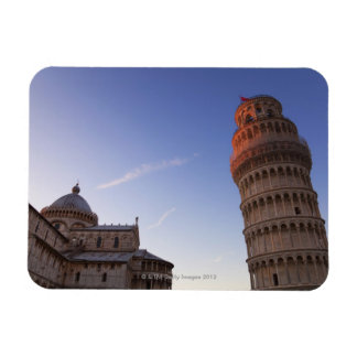 Sunlight on the top of the Leaning Tower of Pisa Magnets