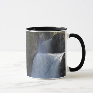 Sunlight On Waterfalls On The Side Of A Mountain Mug