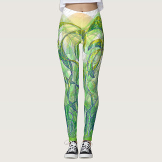 Sunlight on Wet Grass Leggings