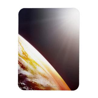 Sunlight over the Earth Rectangular Photo Magnet