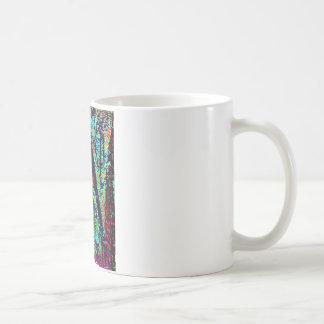 Sunlight penetrating into the wood coffee mug