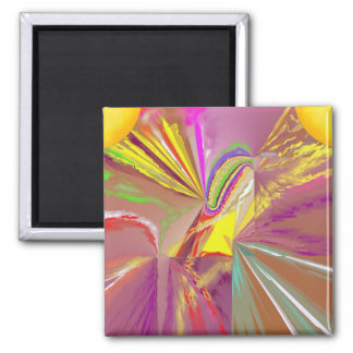 Sunlight Rays of Sun in Happy Colors Magnet
