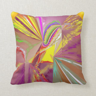 Sunlight Rays of Sun in Happy Colors Throw Pillow