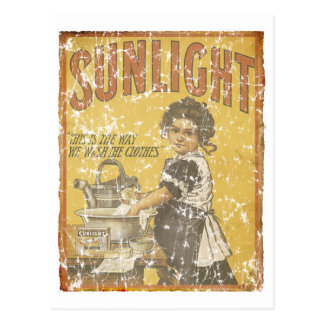 Sunlight Soap - 1873- distressed Postcard